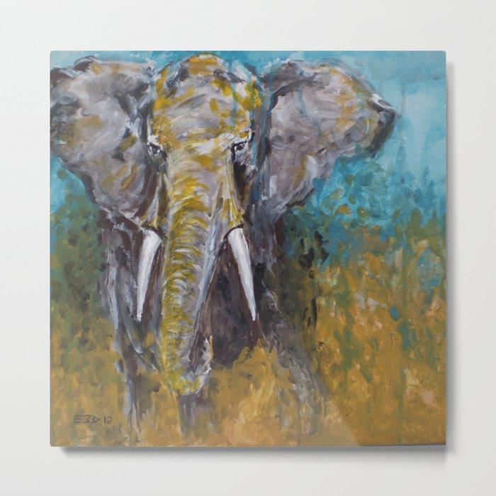 African Elephant Bull Metal Print