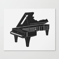 Music Is The Key B Canvas Print