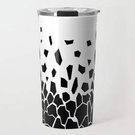 Black Fragments Travel Mug