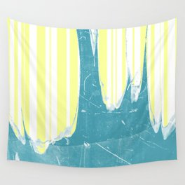water&yellow stripe Wall Tapestry