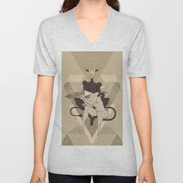 The faun and the woman Unisex V-Neck