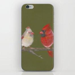 Pastel Cardinals iPhone Skin