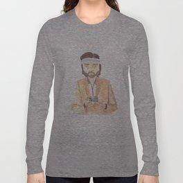 Richie Tenenbaum Watercolor Long Sleeve T-shirt