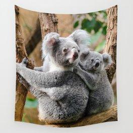 Koala mom and child Wall Tapestry