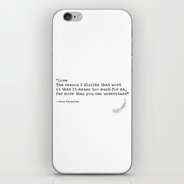 Quote 8 iPhone Skin