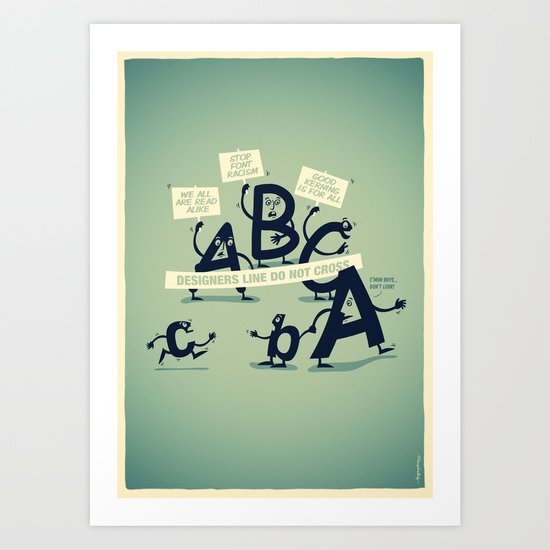 Type Rights Art Print