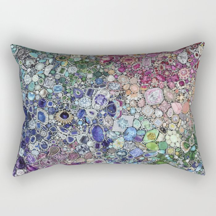 Diamonds, Jewels, (Gems & The Hologram) Rectangular Pillow