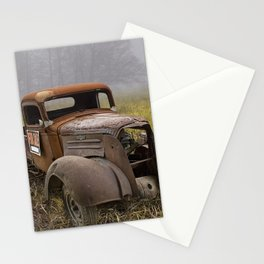 Vintage Chevy Pickup for Sale in a Field of Grass Stationery Cards