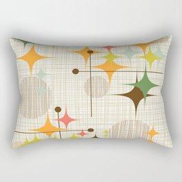 Mid Century Modern Starbursts and Globes 3a Rectangular Pillow