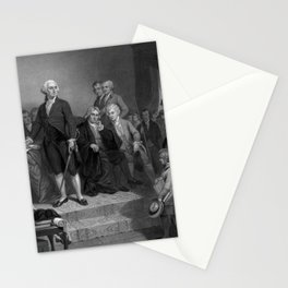 Washington Delivering His Inaugural Stationery Cards