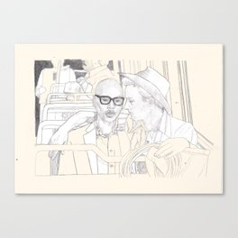RIDING THE BUS WITH ED NORTON AND Andre Charles Canvas Print