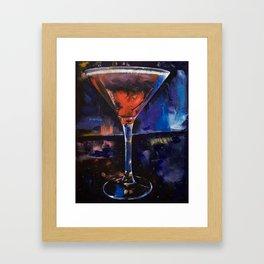 Backstage Martini Framed Art Print