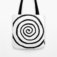 fibonacci Tote Bags featuring Fibonacci by Geryes