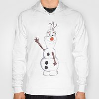 olaf Hoodies featuring olaf from frozen by Art_By_Sarah