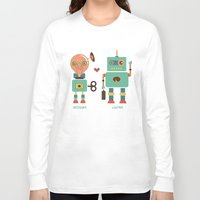 lawyer Long Sleeve T-shirts featuring Robotic Love by akaink