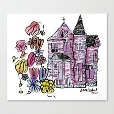 haunted house - colored Canvas Print