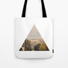Hollywood Sign - Geometric Photography Tote Bag