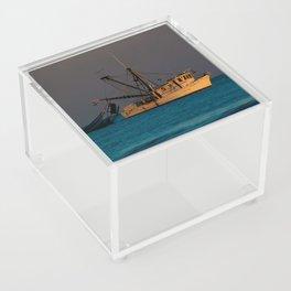 Tucker J fishing boat Acrylic Box
