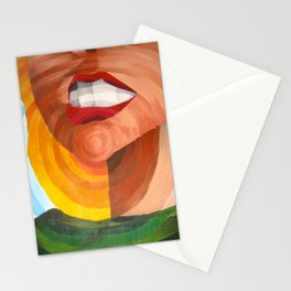 In a circular motion Stationery Cards