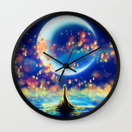 STARRY NIGHT MERMAID Wall Clock