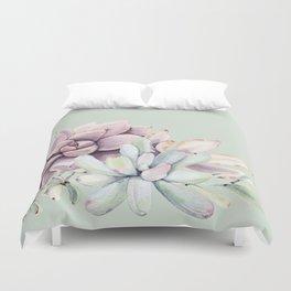 Beautiful Mint Succulents Duvet Cover