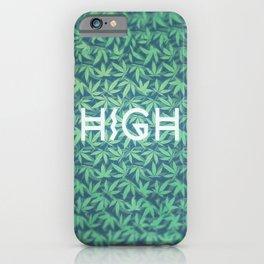 HIGH TYPO! Cannabis / Hemp / 420 / Marijuana  - Pattern iPhone Case