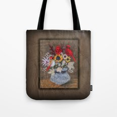 Cardinal Bouquet Tote Bag
