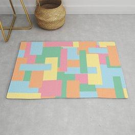 Pastel Colorful Blocks Rug
