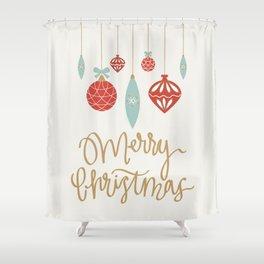 Merry Christmas Ornament Shower Curtain