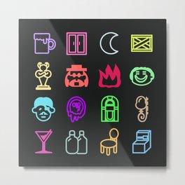 Moonside neon 1 Metal Print