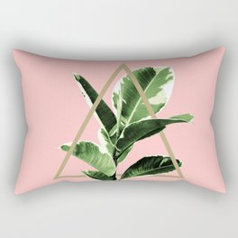 Ficus Elastica Geo Finesse #1 #tropical #foliage #decor #art #society6 Rectangular Pillow