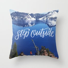 Step Outside Throw Pillow