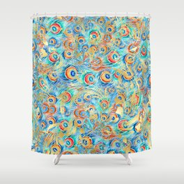 Feather peacock #11 Shower Curtain