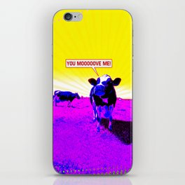 Psychedelic Cows iPhone Skin