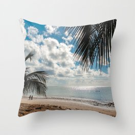 Couple at the beach Throw Pillow