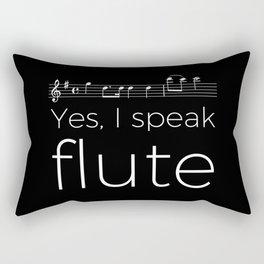 Speak flute? Rectangular Pillow