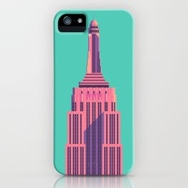 Empire State Building New York Art Deco - Green iPhone Case