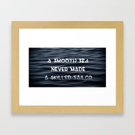 Smooth Sea Framed Art Print