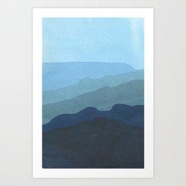 Landscape Blue Art Print