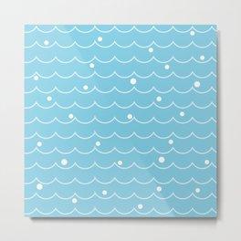 Sea Wave pattern_A Metal Print