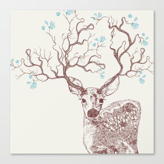 Forest Deer Canvas Print