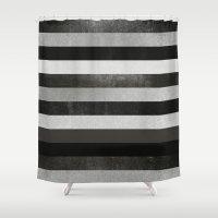 noir Shower Curtains featuring Noir by Elisabeth Fredriksson