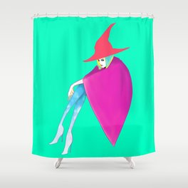 Neon Witch Shower Curtain