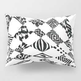 Spotlights, Black/White Abstract (Ink Drawing) Pillow Sham