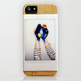 He's got the whole world in his hands iPhone Case