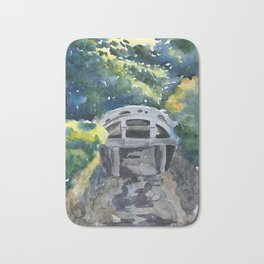 Japanese bridge Bath Mat