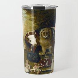 Classical Masterpiece 1833 'A Peaceable Kingdom' by Edward Hicks Travel Mug