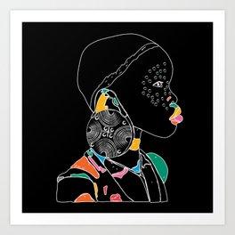 African Girl D Art Print