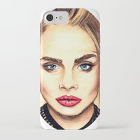 cara iPhone & iPod Cases featuring Cara. by Annie Mae Herring