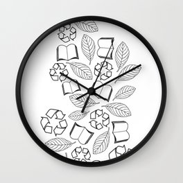 recycle reuse Wall Clock